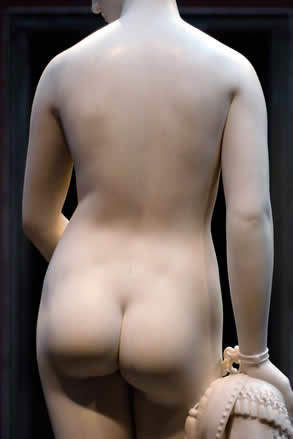 Greek Slave by Hiram Powell, back view - from Abel and Haron's Spanking Blog